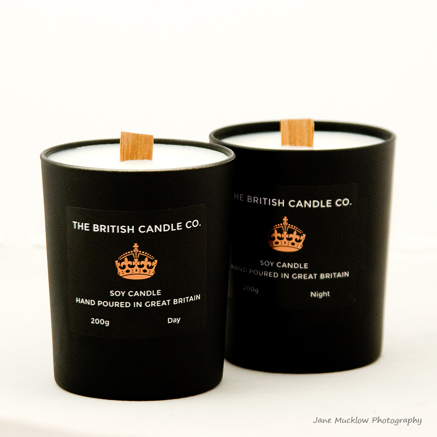 Mens candles by The British Candle Co., product example shot by Jane Mucklow