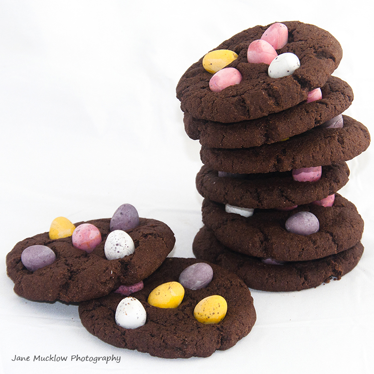 Cookies from Cookietastic cookie jar mix, marketing shot example by Jane Mucklow