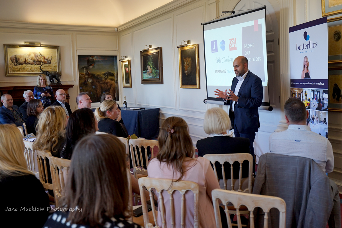 Photo of a networking group's talk at the Networkers Networking event at Port Lympne, by Jane Mucklow