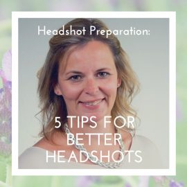 Headshot photo example, for featured post photo for blog on 5 tips for better headshots