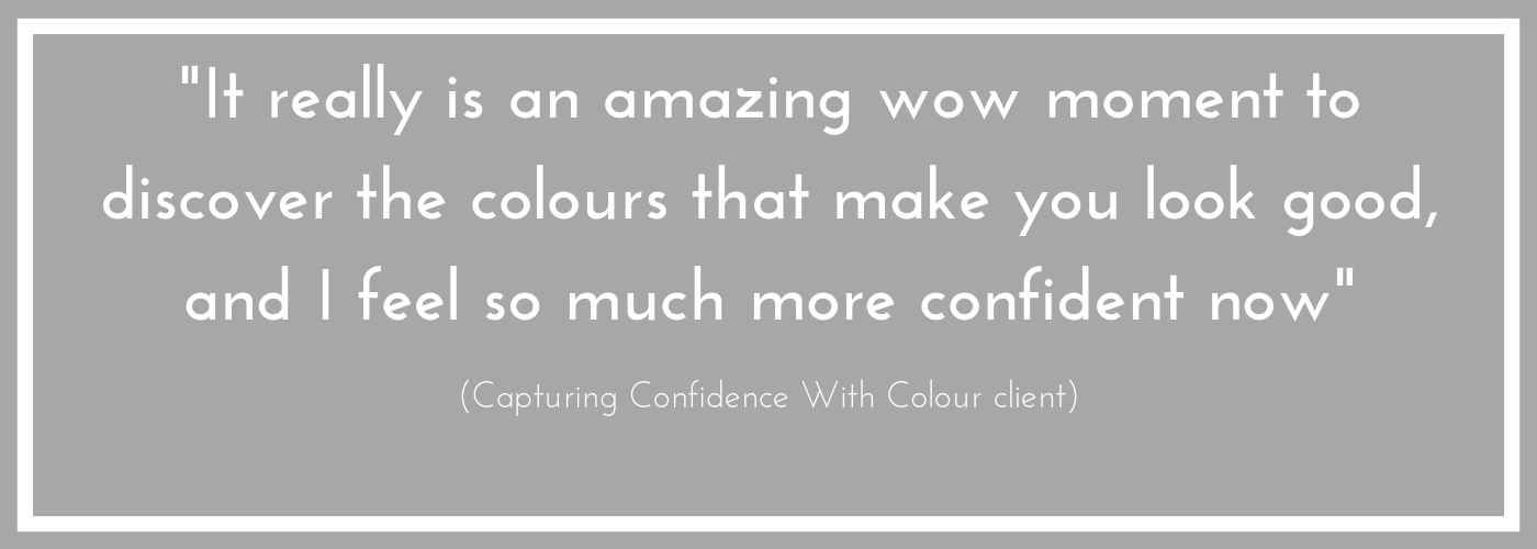 Client testimonial for Capturing Confidence With Colour