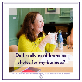 Featured image for blog post, Do I need branding photos, photo of Marie Brown by Jane Mucklow