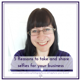 Blog picture for featured post, selfie photo by Jane Mucklow of herself for 5 Reasons to take selfies blog