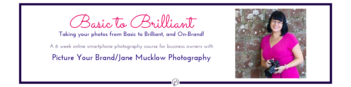 Email header image for Basic to Brilliant photography course by Jane Mucklow