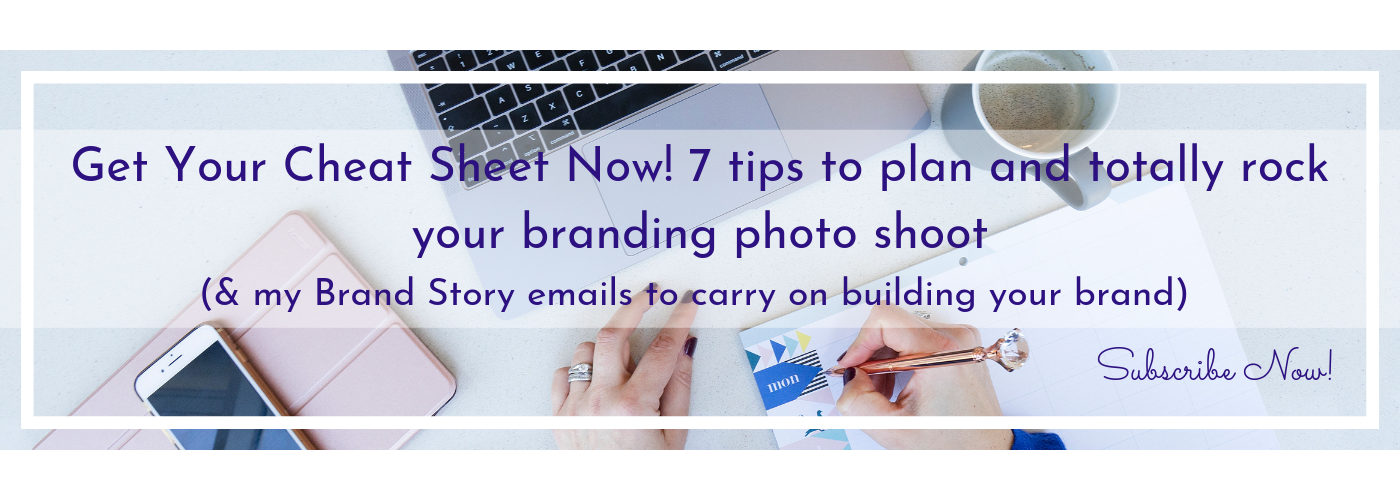 Branding email list banner image for Jane Mucklow Picture Your Brand 7 Tips to plan your brand shoot