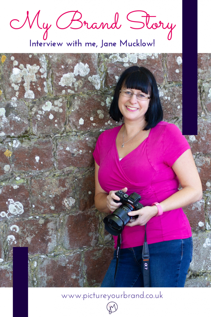 Blog picture for Pinterest, photo of Jane Mucklow for blog interview My Brand Story blog