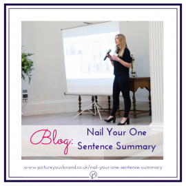 Blog picture for featured image, branding photo of Laura McDouall by Jane Mucklow for Nail your One Minute Summary blog.