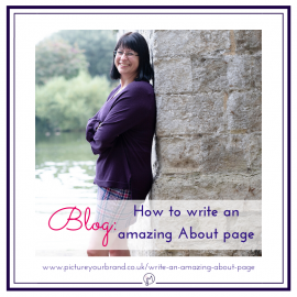 Blog picture for featured image, branding photo of Jane Mucklow by Manjit Sohal for blog on how to write an amazing about me page.