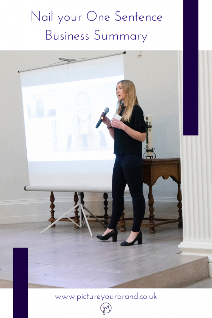 Blog picture for Pinterest, branding photo of Laura McDouall by Jane Mucklow for Nail your One Minute Summary blog.