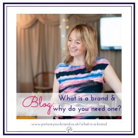 Blog picture for featured image, branding photo of Amanda Flanders by Jane Mucklow, for blog post on What is a brand and why you need one.