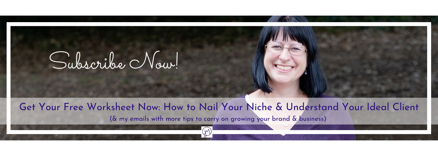 Branding email list banner image for Jane Mucklow Picture Your Brand Ideal Client Worksheet
