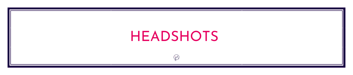 Button or page title for Headshot Photos info by Jane Mucklow / Picture Your Brand