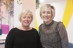 Photo of Kathy and Karen at The Visibility Hub by Jane Mucklow