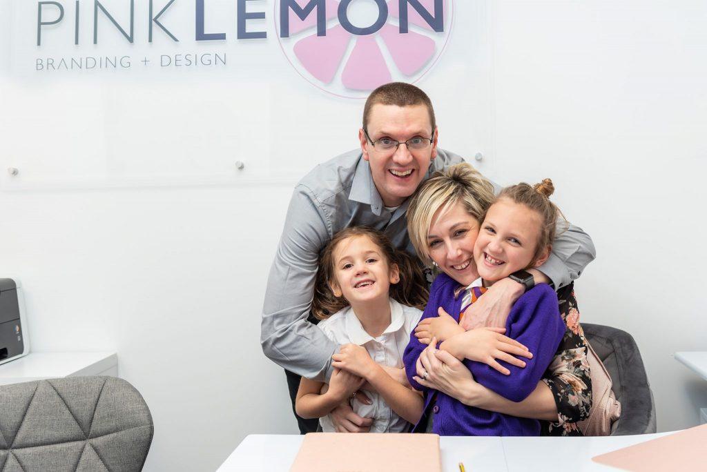 Branding photo of Karen Davies and family for Pink Lemon Branding & Design blog