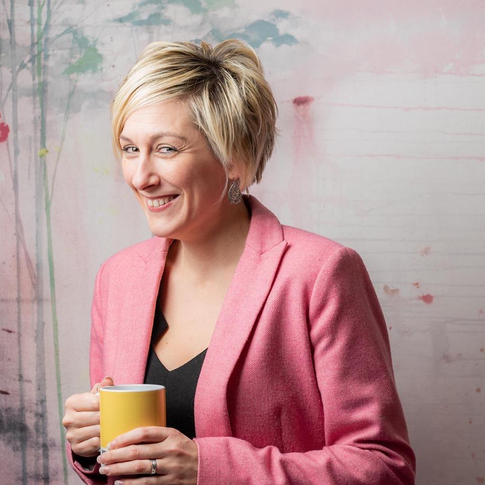 Branding photo of Karen Davies for Pink Lemon Branding & Design blog