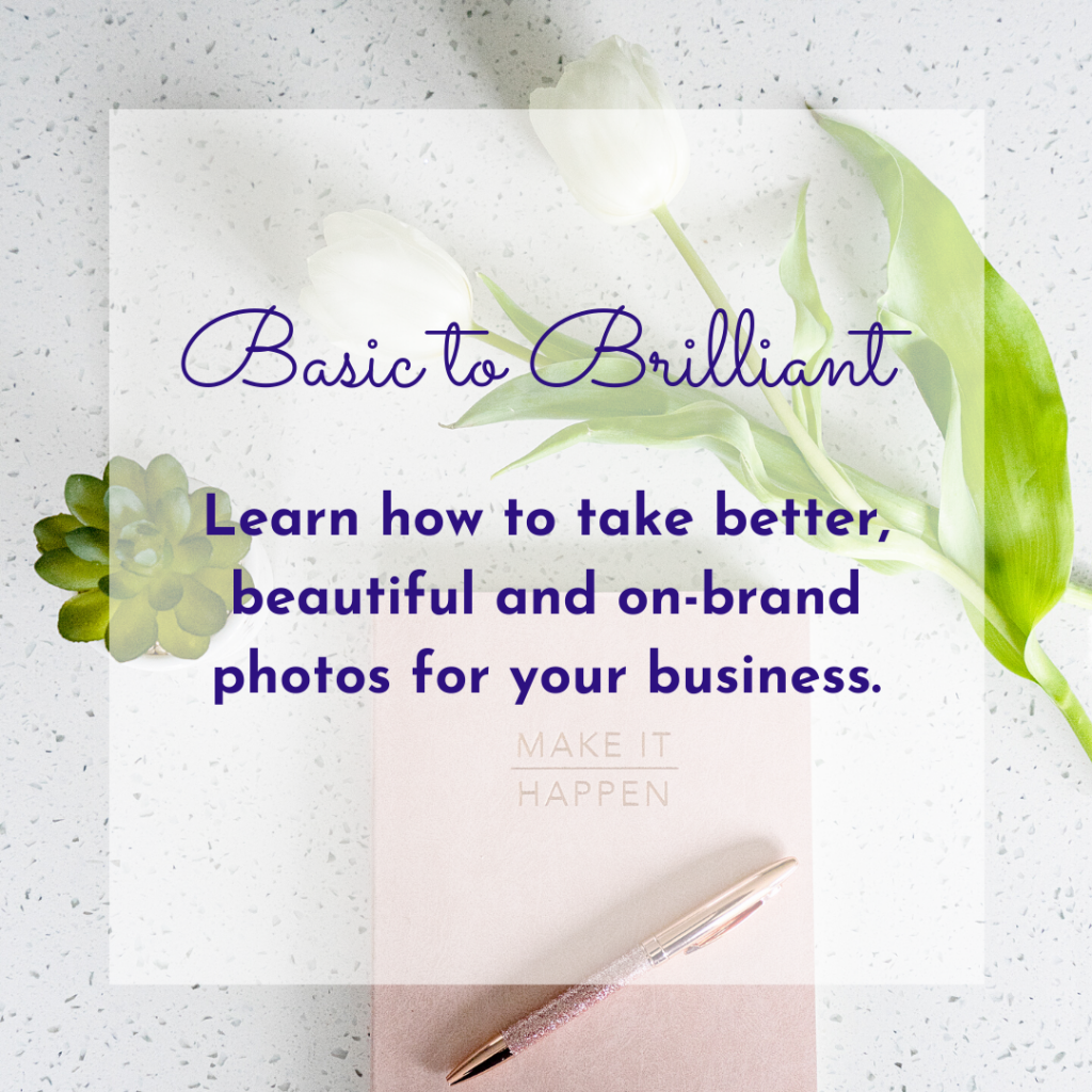 Learn to take better photos with Jane Mucklow Picture Your Brand, featured page image for Basic to Brilliant online course