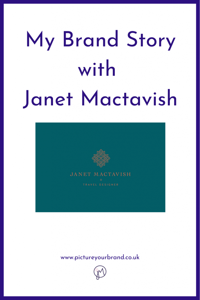 anet Mactavish Travel Desinger's logo for blog about her brand story for Jane Mucklow, Picture Your Brand.