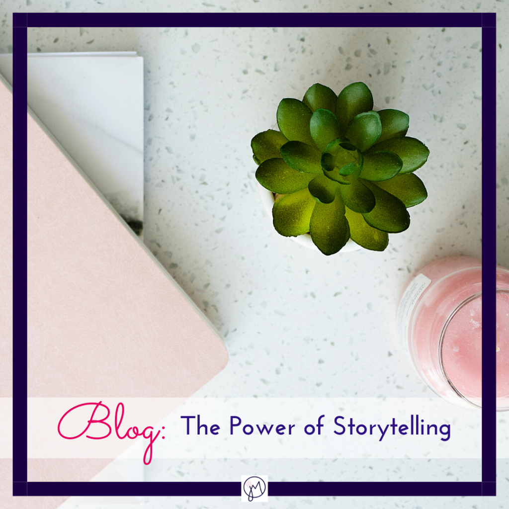 Photo of a notebook,, candle and cactus for blog post on the Power of Storytelling, by Jane Mucklow of Picture Your Brand