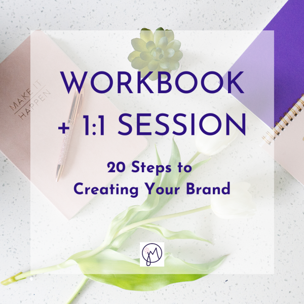 Featured image title for a Workbook of 20 steps to Creating Your Brand, with a 1:1 session, by Picture Your Brand/Jane Mucklow Photography