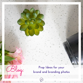 Photo by Jane Mucklow of her camera and props for a Picture Your Brand blog about prop ideas for your brand photos, featured page image.