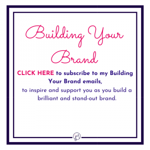 Website button for signing up to the email list for Jane @ Picture Your Brand emails