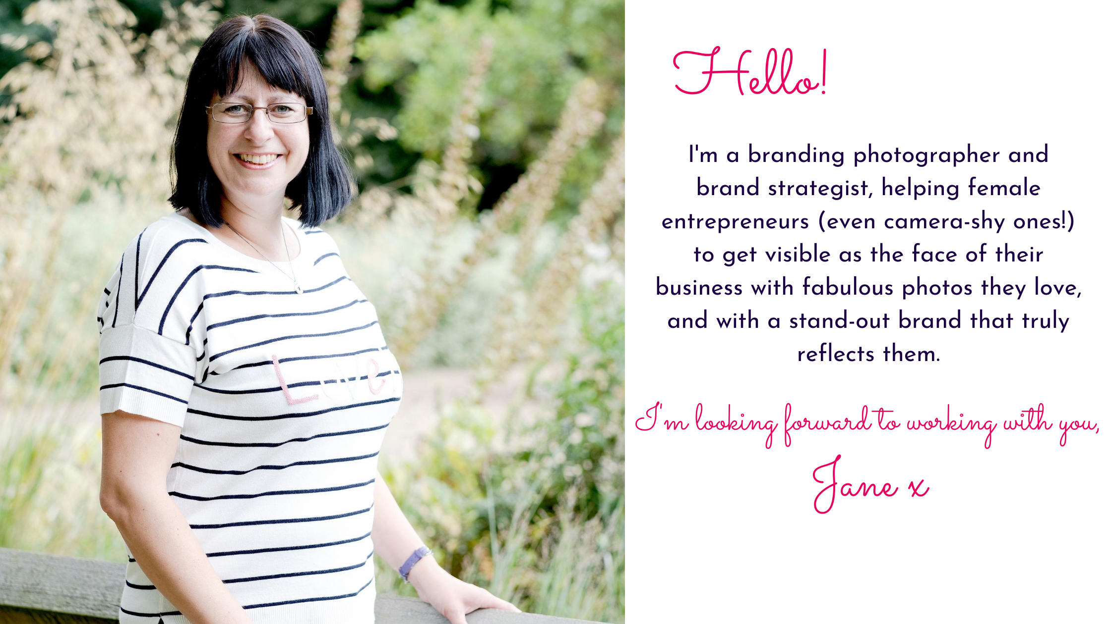 Branding photo of Jane Mucklow Picture Your Brand with intro text