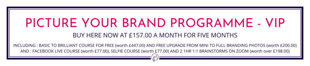 Jane Mucklow Picture Your Brand website button for the Picture Your Brand Programme - VIP