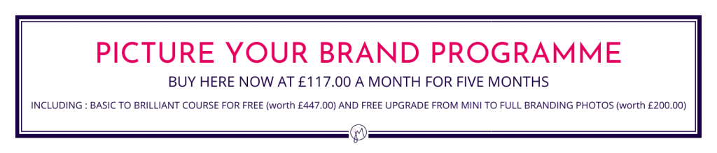 Jane Mucklow Picture Your Brand website button for the Picture Your Brand Programme
