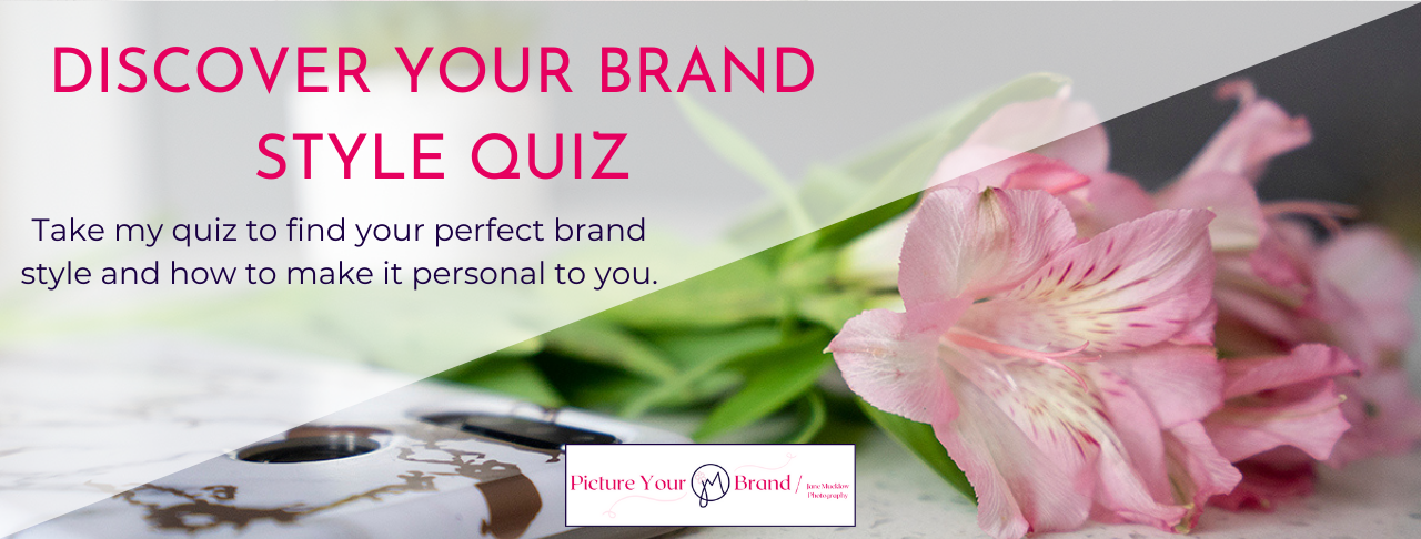 Discover your brand style quiz by Jane Mucklow of Picture Your Brand, image title