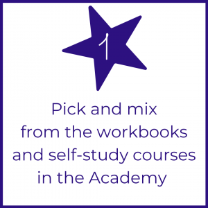 Picture Your Brand Academy step 1 website button for courses