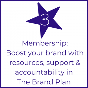 Picture Your Brand Academy step 3 website button for membership