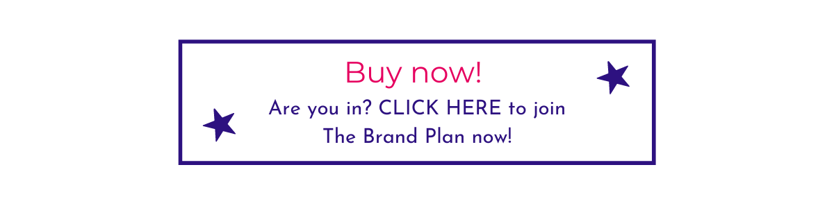 Picture Your Brand website button for buying the Brand Plan in the Academy