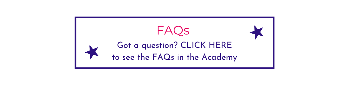 Picture Your Brand website button for FAQs in the Academy