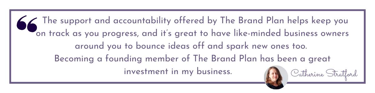 The Brand Plan testimonial for Jane Mucklow