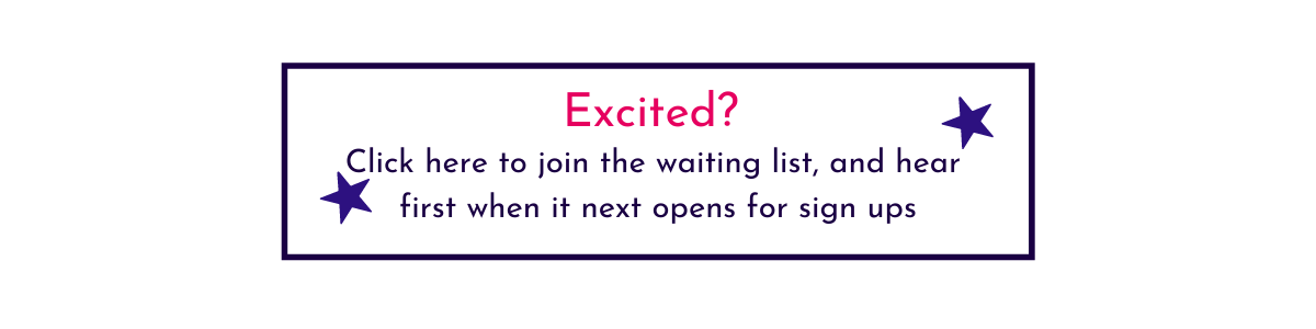 Picture Your Brand group programme button to join waiting list